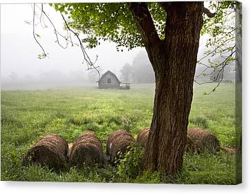 Little Barn Canvas Print by Debra and Dave Vanderlaan