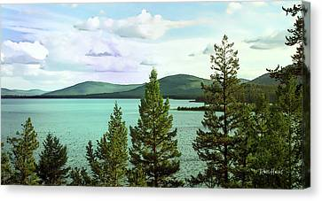 Little Bitterroot Lake Montana Canvas Print by Russ Harris