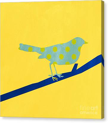 Little Blue Bird Canvas Print by Linda Woods