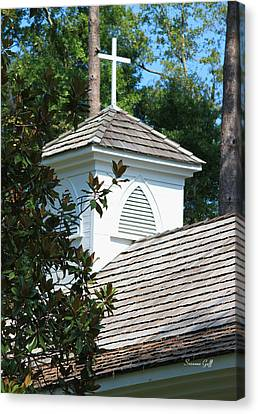 Little Chapel In The Woods Canvas Print by Suzanne Gaff
