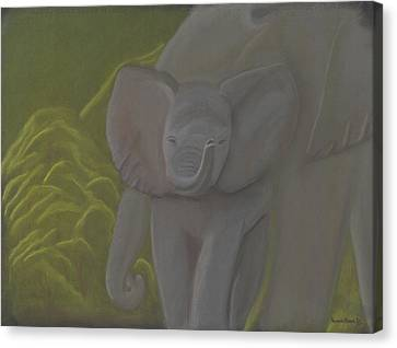 Little Elephant Canvas Print by Vonna Beam