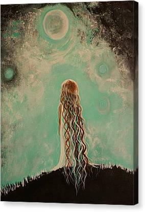 Little Galaxie One Canvas Print by Leslie Allen