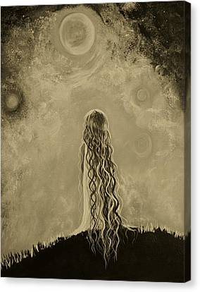 Little Galaxie Too Canvas Print by Leslie Allen