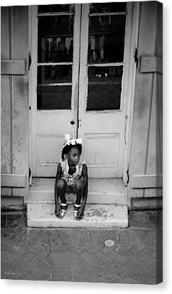 Little Girl Waiting Canvas Print by Shelly Stallings