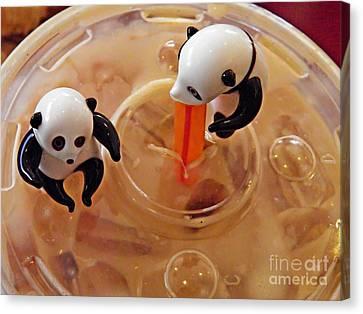 Fast Food Canvas Print - Little Glass Pandas 60 by Sarah Loft