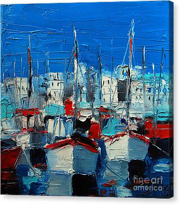 Mona Edulescu Canvas Print - Little Harbor by Mona Edulesco