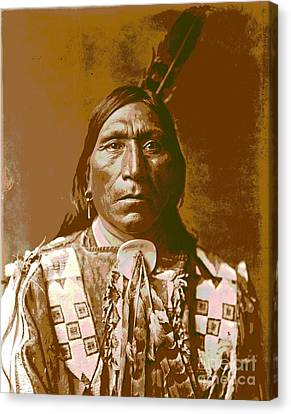 Native American Clothes Canvas Print - Little Hawk by Padre Art