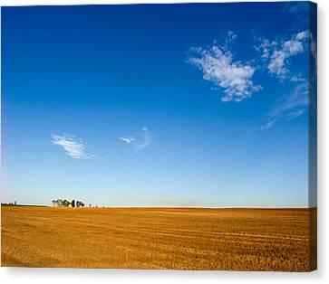 Little House On The Prairie Canvas Print by Meir Ezrachi
