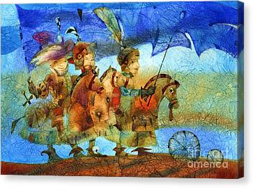 Little Knights Canvas Print by Svetlana and Sabir Gadghievs