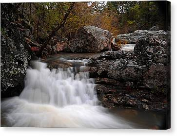 Canvas Print featuring the photograph Little Missouri Falls by Renee Hardison