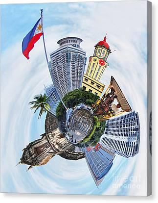 Little Planet - Manila Canvas Print by Yhun Suarez
