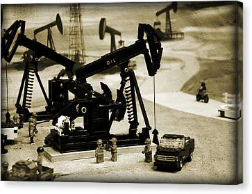 Little Pumpjacks Canvas Print