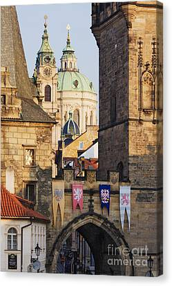 Little Quarter Towers And St Josephs Church Canvas Print by Jeremy Woodhouse