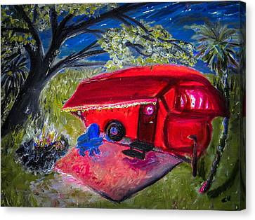 Little Red Camper Canvas Print by Christy Usilton