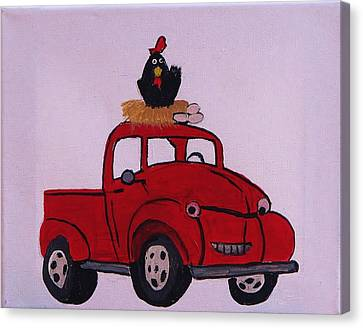 Little Red Coop Canvas Print by Linda Brown