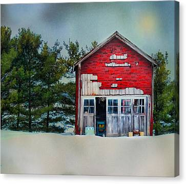 Little Red Shed Canvas Print by Mary Timman