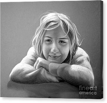 Canvas Print featuring the painting Little Smile by Eleonora Perlic