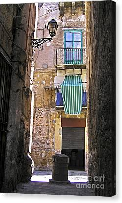 Little Street In The Old Citycenter - Palermo - Sicily Canvas Print by Silva Wischeropp