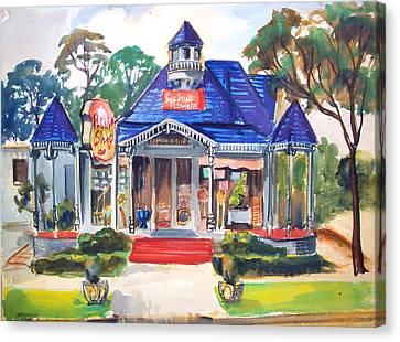 Little Town Flower Shop Canvas Print by Bill Joseph  Markowski