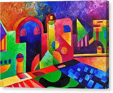 Little Village By Sandralira Canvas Print