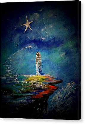 Little Wishes One Canvas Print by Leslie Allen