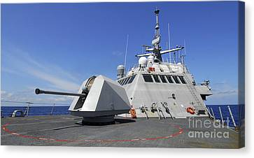 Littoral Combat Ship Uss Freedom Canvas Print by Stocktrek Images