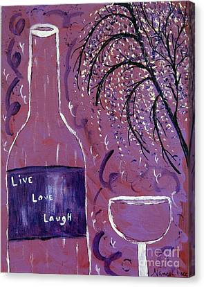 Live Love Laugh Wine Canvas Print