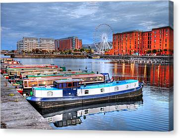 Liverpool England Canvas Print by Barry R Jones Jr