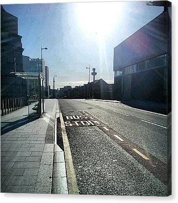 #liverpool #uk #england #bus #busstop Canvas Print by Abdelrahman Alawwad
