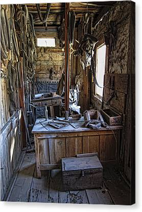Livery Stable Work Area - Virginia City Ghost Town - Montana Canvas Print