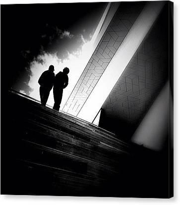 Living Between The Lines - Concrete Canvas Print by Robbert Ter Weijden