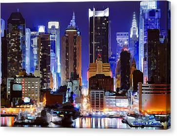 Living For The City Canvas Print by Elizabeth Coats