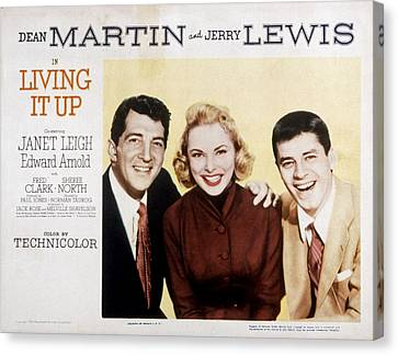Living It Up, Dean Martin, Janet Leigh Canvas Print by Everett
