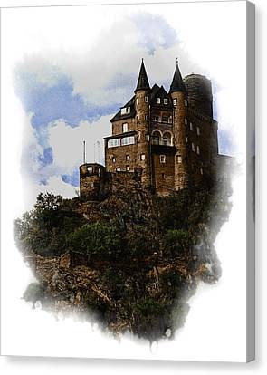 Living On The Rhine Canvas Print by Cecil Fuselier