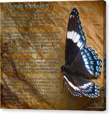 Living Stones Poem Canvas Print by Debra     Vatalaro