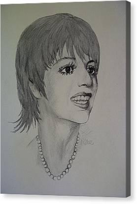 Celeb Canvas Print - Liza Minnelli by Kat At illustraat