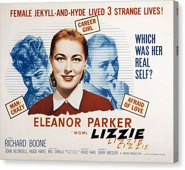 Lizzie, Eleanor Parker, 1957 Canvas Print by Everett
