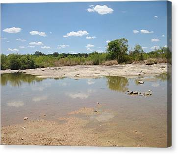 Canvas Print featuring the photograph Llano River 'the Slab' by Elizabeth Sullivan