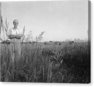 Lloyd Owens On His Farm Canvas Print by Jan W Faul