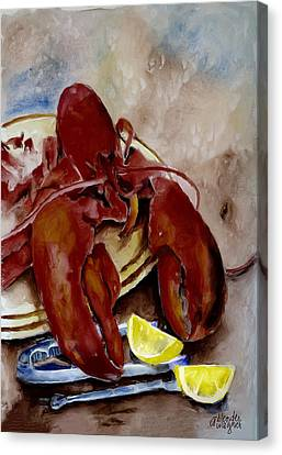 Lobster Feast Canvas Print by Arline Wagner