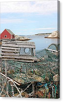 Lobster Pots Canvas Print by Kristin Elmquist