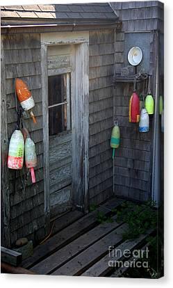 Lobsterman's House Canvas Print by Brenda Giasson