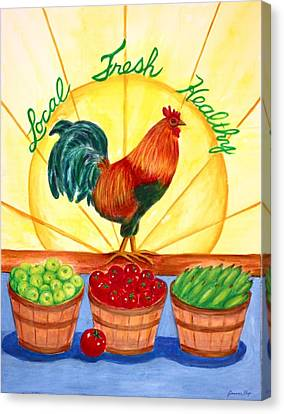 Local Fresh Healthy Canvas Print by Jeanne Kay Juhos