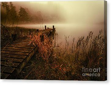 Loch Ard Early Morning Mist Canvas Print
