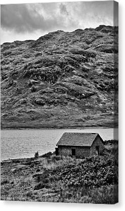 Loch Arklet Boathouse Canvas Print by Chris Thaxter