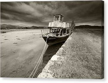 Loch Etive Jetty Old Boat Canvas Print