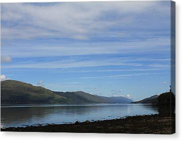 Canvas Print featuring the photograph Loch Linnhe by David Grant