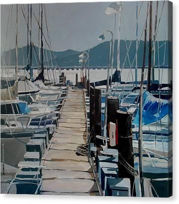 Loch Lomond Marina Canvas Print