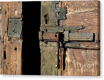Lock Of Church. France Canvas Print by Bernard Jaubert