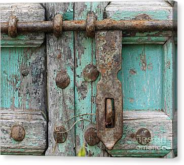 Canvas Print featuring the photograph Lock The Door by Denise Pohl